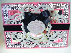 194.Cardmaking Project: Anna Griffin Ornate Black Rose Card - YouTube