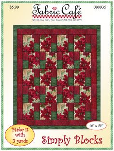 Simply Blocks - 3 Yard Quilt Pattern