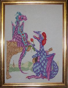 Old Smokey and Magic Moments are fantastic dragon cross stitch patterns. Let your imagination run riot while you stitch these counted cross stitch dragons Dragon Cross Stitch, Dinosaurs, Cross Stitch Patterns, Dragons, Imagination, Needlework, Moose Art, Arts And Crafts, Magic