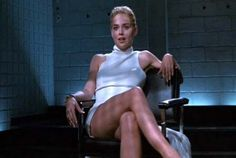 """Catherine Tramell (Sharon Stone) to Det. Nick Curran (MIchael Douglas): """"You know I don't like to wear any underwear, don't you, Nick?"""" -- from Basic Instinct (1992) directed by Paul Verhoeven"""
