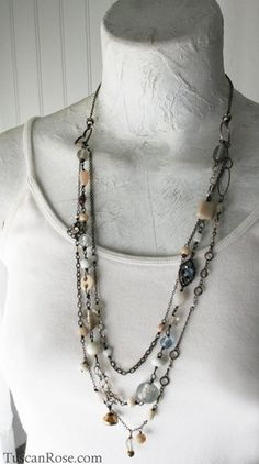 Prairie Sky assemblage Necklace by lucile