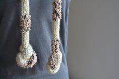 Very long scarf Handmade scarf Wool Rope Neck Warmer by LarvaMade