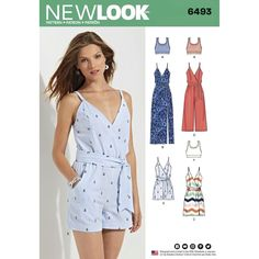 944446b00c New Look 6493 Misses  Jumpsuit and Dress in Two Lengths with Bralette