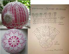Crochet Christmas Ornaments, Christmas Crochet Patterns, Crochet Snowflakes, Christmas Baubles, Christmas Crafts, Art Au Crochet, Crochet Ball, Thread Crochet, Crochet For Kids