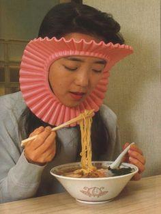 Un masque anti-éclaboussures de nouilles Pour ne plus se salir.