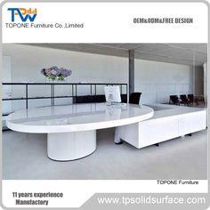 Fashion design round reception desk table
