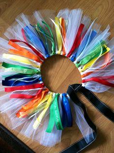 No sew rainbow inspired tutu