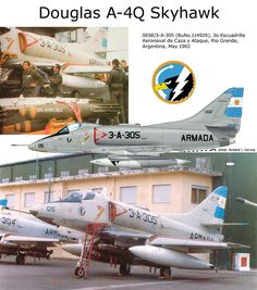 A-4Q Skyhawk ARGENTANIAN AIRFIGHTERS DURING THE FARKLANDS WAR-LAS MALVINAS-THIS AIRCRAFT DEVELOPED IN UUSS LOANED SERVICES DURING VIETNAM'S WAR AND GULF WAR SUPPORTING NAVY FORCES SO MUCH IN LAND AS THE SEA ATTACKING TROOPS VEHICLES A MISSILES SYSTEMS.