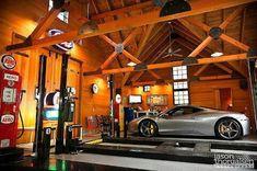 Un garaje para disfrutar de un Ferrari