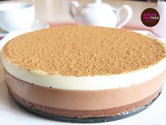 Tarta de tres Chocolates, una delicia para el paladar, no tienes excusa!! Sin horno!! #tarta #treschocolates