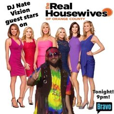 Catch our funkadelic client DJ Nate Vizion, of @skyvizion_ent, guest star on The Real Housewives of Orange County at 9pm on @bravotv! Tune in TONIGHT! . We hear things get crazy! We could say more but, what would be the fun in that? *wink, wink* . #RHOC #BravoTV #GuestStar #Skyvizion #ClientLove