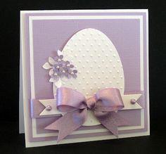 Easter egg card elegantly done!
