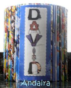 Andairadas: Portalápices hechos con bricks y rollitos de papel