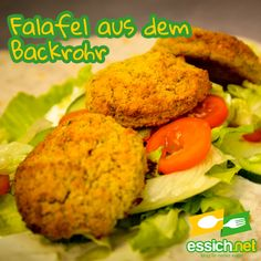 Backrohr-Falafel Falafel, Meat, Chicken, Food, Pipes, Oven, Essen, Beef, Meal