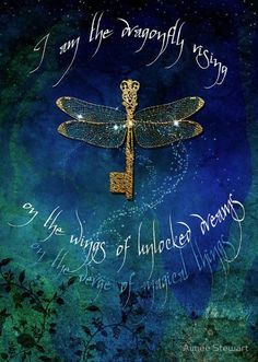 Dragonfly key tattoo. I am the Dragonfly rising on the wings of unlocked dreams.