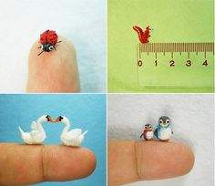 Check out these itty bitty crocheted animals! On average these cuties are only 1/4 of an inch :)  http://sussle.org/t/Crochet