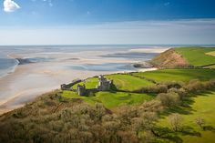 Llansteffan Castle Photo © Crown copyright (2012) Visit Wales by CCW photography, via Flickr