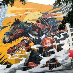 /Street art in World's Trade Center, Street Art Banksy, Street Art News, Murals Street Art, Mural Art, Street Artists, Graffiti Artists, Street Art Photography, Nyc Art, Amazing Street Art