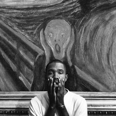 frank ocean, art, and black and white afbeelding