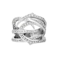 RING Thorn 18k white gold and white diamonds