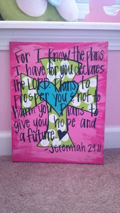 Personalized Handpainted Jeremiah 29 11 canvas by AmandaSimpkins, $28.00