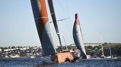 VOR 2015: Alvimedica shows Dongfeng the way home after passing its rival within sight of the finish in Lisbon