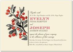 Cranberry Invitations