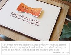 Card Ideas for the Men in Your Life & Diy On A Budget, Fathers Day, Stencils, Ink, Make It Yourself, Cards, India Ink, Templates, Maps