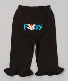 Another great find on #zulily! Black 'Foxy' Ruffle Pants - Infant & Toddler by Petunia Petals #zulilyfinds