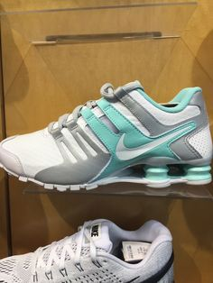 ae5b0a1fdd0 Teal gray and white nike shox. Size 10 at finish line