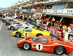 When Enzo Ferrari turned down Henry Ford's offer to buy Ferrari a war ensued that some call the Ford - Ferrari Wars. Ford dumped millions of dollars into a racing program to beat Ferrari and they eventually did it in spectacular fashion four times at Le Mans (66,67,68,69). In 1967 at Le Mans the #1 Ford Mark IV was driven to victory by the unlikely duo of A.J. Foyt and Dan Gurney.