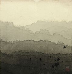 Minjung Kim; Landscape 2002.  Ink on rice paper.