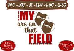Football Mom SVG - My Hearts are on that Field SVG - Football SVG - Sports Mom svg - Files for Silhouette Studio/Cricut Design Space by MorganDayDesigns on Etsy