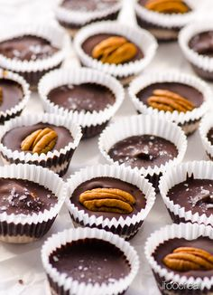 Homemade Protein Peanut Butter Cups -- Copycat Reese's peanut butter cups but way healthier, tastier and keep your craving satisfied with a small portion. They are high in protein making a perfect guilt-free treat. And that sea salt on top...Sold!