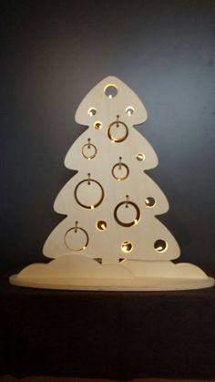 Kerstboom met of zonder batterijverlichting