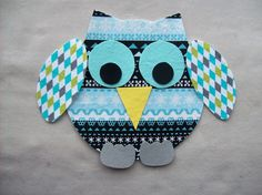 no sew applique patterns   | Chubby Fabric Iron On Christmas Owl Applique by PacificCoastie