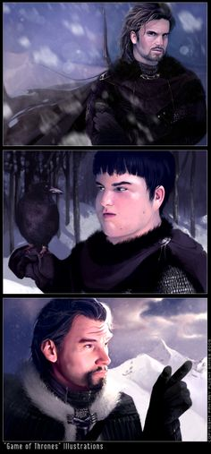 Nights Watch characters by Kyena for FFG