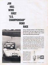 1963 Champion Original B & W Ad - Cooper Monaco, Jim Hall, SCCA, Daytona Intl