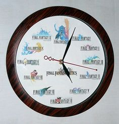 Final Fantasy Clock by ~SOLDIER-Cloud-Strife on deviantART. I WANT IT!