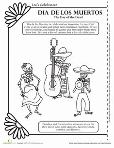 Printables Day Of The Dead Worksheets pinterest the worlds catalog of ideas fall third grade paper projects coloring worksheets dia de los muertos coloring