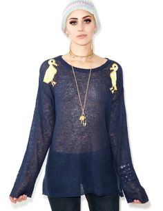 Wildfox Couture Ducklings Roadie Sweater | Dolls Kill
