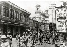 """This week in 1942: the 55th Division of the Japanese 15th Army under General Shojiro Iida invade Burma, crossing the border from Thailand and seizing Moulmein by the end of January.. Japan's principal aim was to cut the Allied supply line from Rangoon to Chiang Kai-shek's China (""""The Burma Road""""). Over 500,000 Japanese, Chinese, American, British, Indian, Gurkha and Burmese soldiers would die or be severely wounded in Burma (and at Imphal and Kohima) over the next three and half years."""