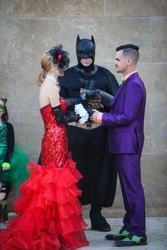 Superhero/villain wedding