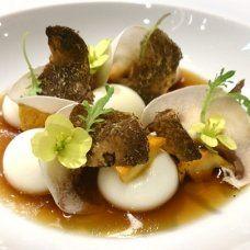 SCIENCE FOOD WEBSITE! SO DAMN AWESOME! Liquid Parmesan Gnocchi with Mushroom Infusion by Chef Jordi Cruz