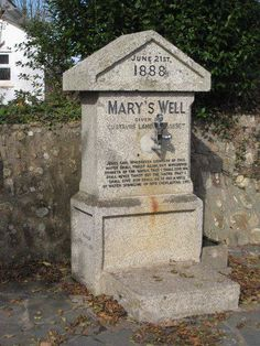 MARY'S WELL | Illogan, Cornwall: 'The drinking fountain at Mary's Well was donated by Gustavus Lambert Basset of banking and mining fame from Tehidy, which means a Manorial Centre (Ty) owned by (probably) a man named Hidin dating from 1170.'     ✫ღ⊰n