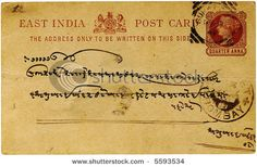 East India Trading Company postcard ... love this faded vintage color!