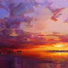 """Early Morning, Portland Harbor,"" by Holly Ready. Oil, 16"" x 16"""