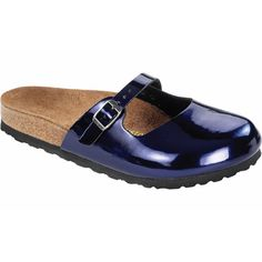 Maria in Dark Blue Steel Birko Flor Birkenstock Sandals, Clogs, Dark Blue, Steel, Fashion, Moda, Deep Blue, Dark Teal, Fasion