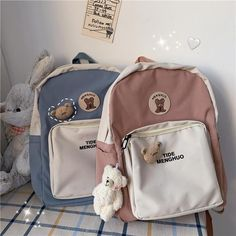Aesthetic Backpack, Aesthetic Bags, Aesthetic Clothes, Stylish School Bags, Cute School Bags, Cute Mini Backpacks, Stylish Backpacks, Preppy Backpack, Backpack Bags