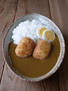 ひよこ食堂-カニクリームコロッケのトッピングカレー03